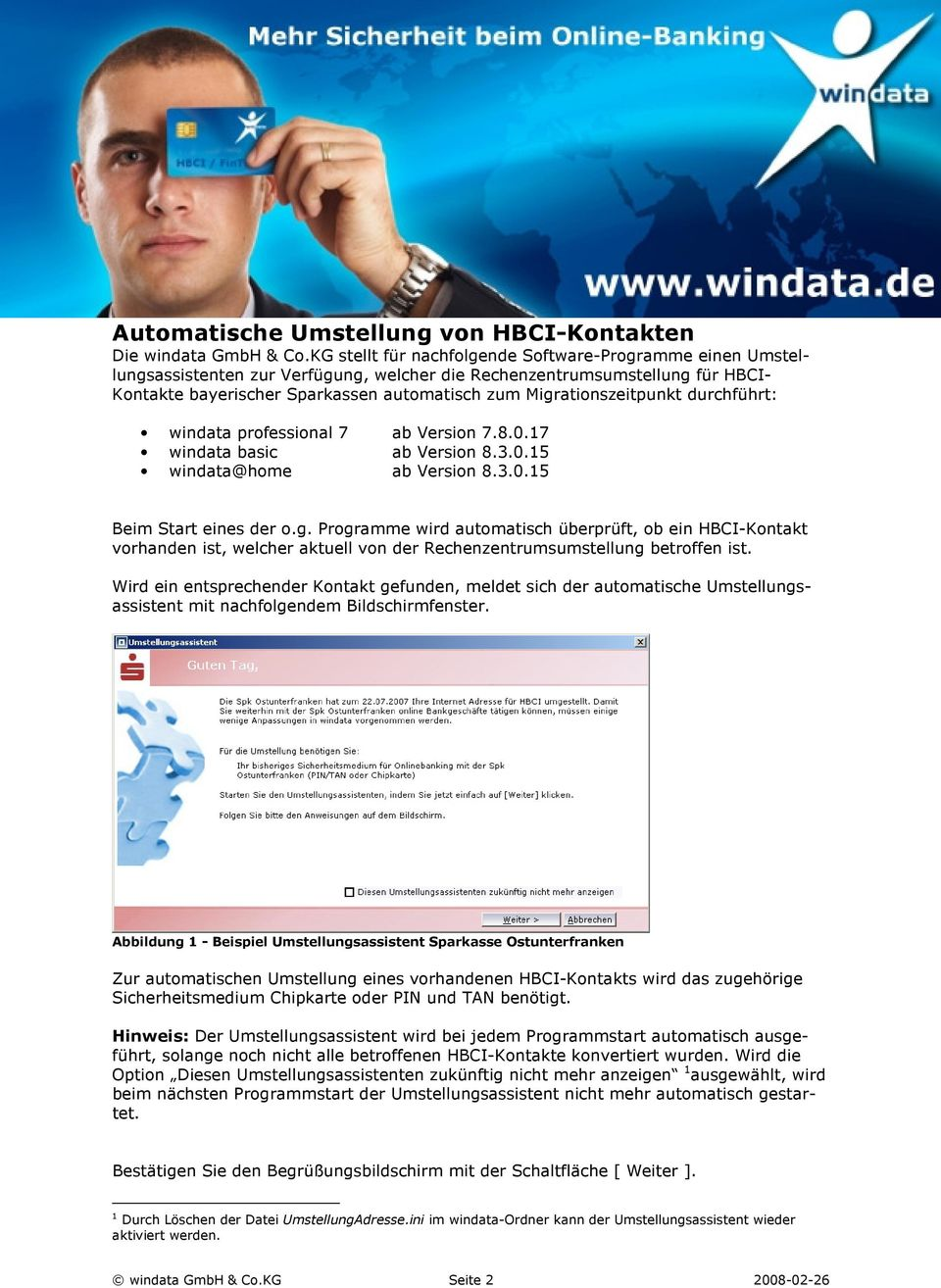 Umstellungsassistent. für. windata professional 7 windata basic - PDF