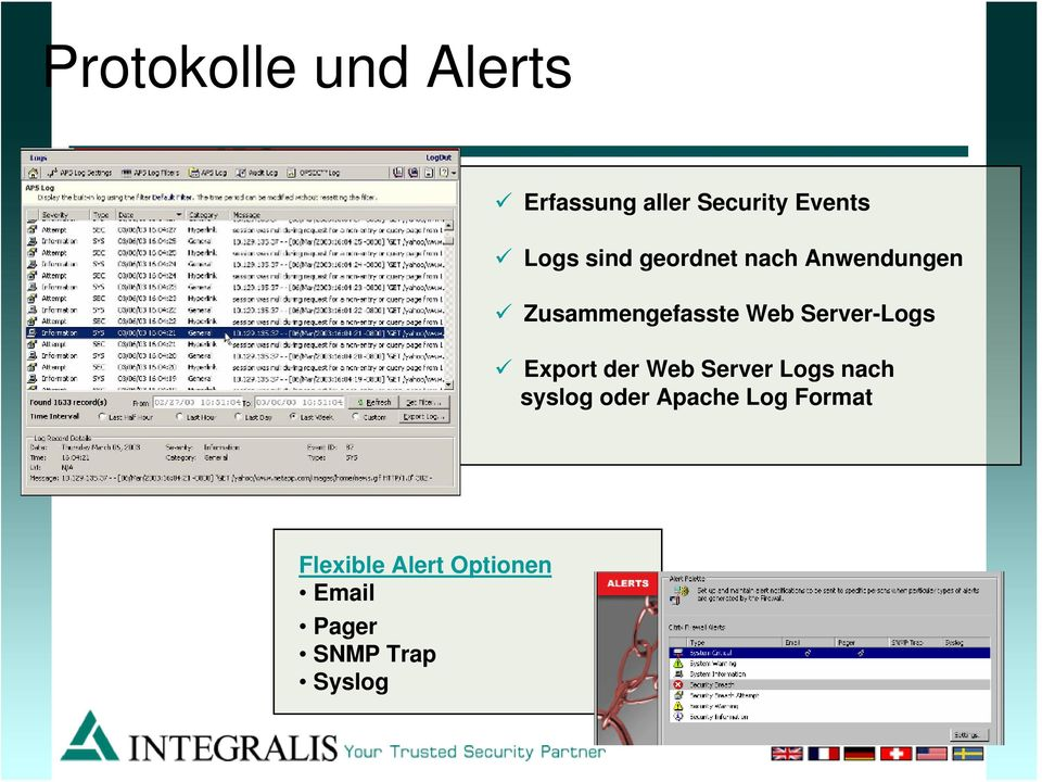 Server-Logs Export der Web Server Logs nach syslog oder