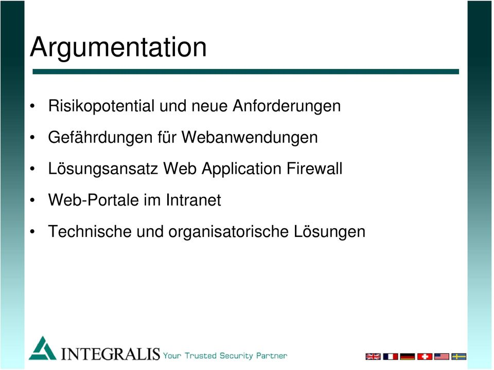 Lösungsansatz Web Application Firewall