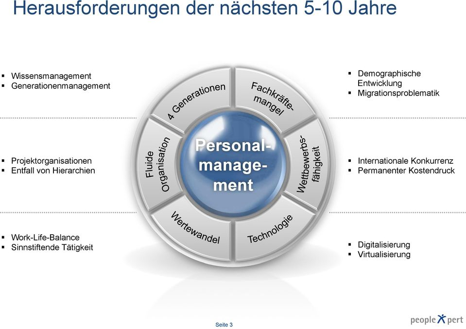 Projektorganisationen Entfall von Hierarchien Personalmanagement Internationale