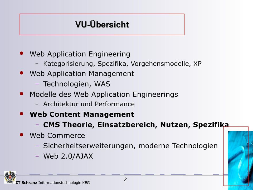 Engineerings Architektur und Performance Web Content Management CMS Theorie,