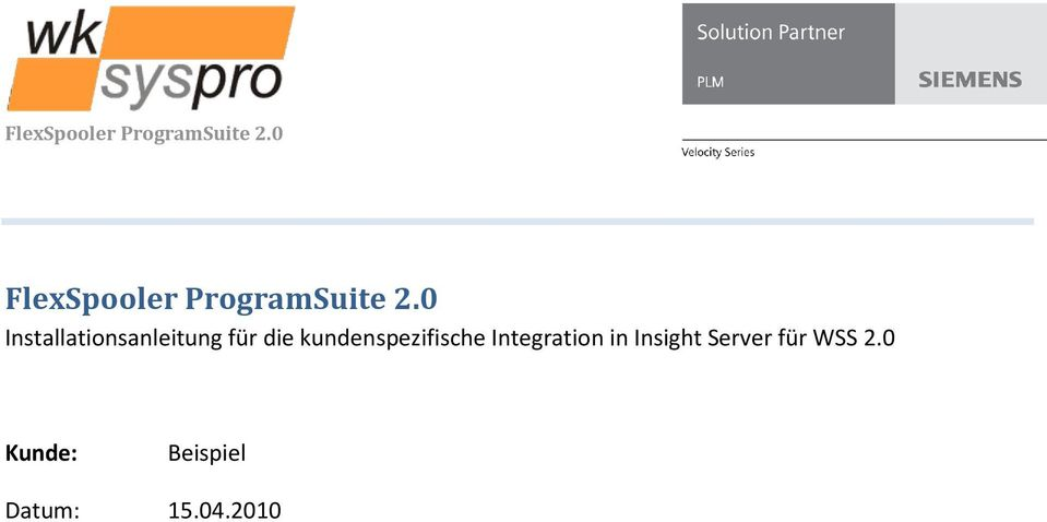 kundenspezifische Integration in Insight