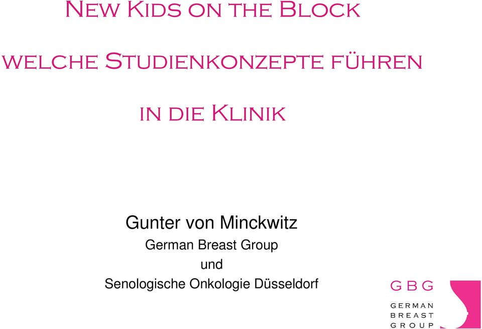 Klinik Gunter von Minckwitz German