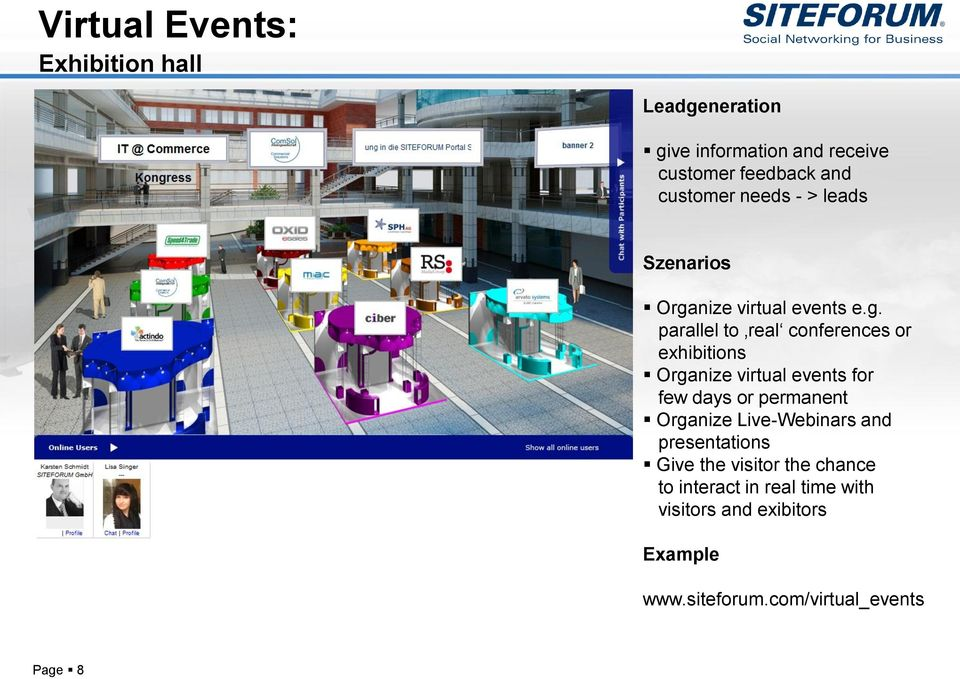 nize virtual events e.g.