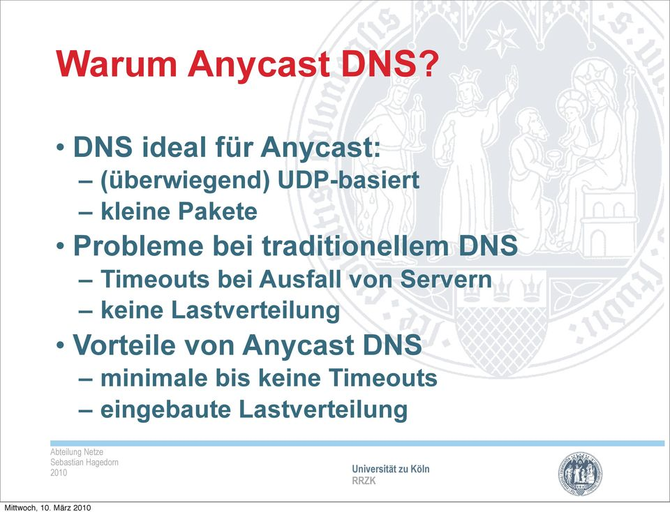 Pakete Probleme bei traditionellem DNS Timeouts bei Ausfall