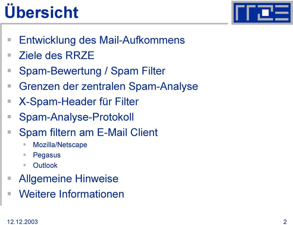 Filter Spam-Analyse-Protokoll Spam filtern am E-Mail Client