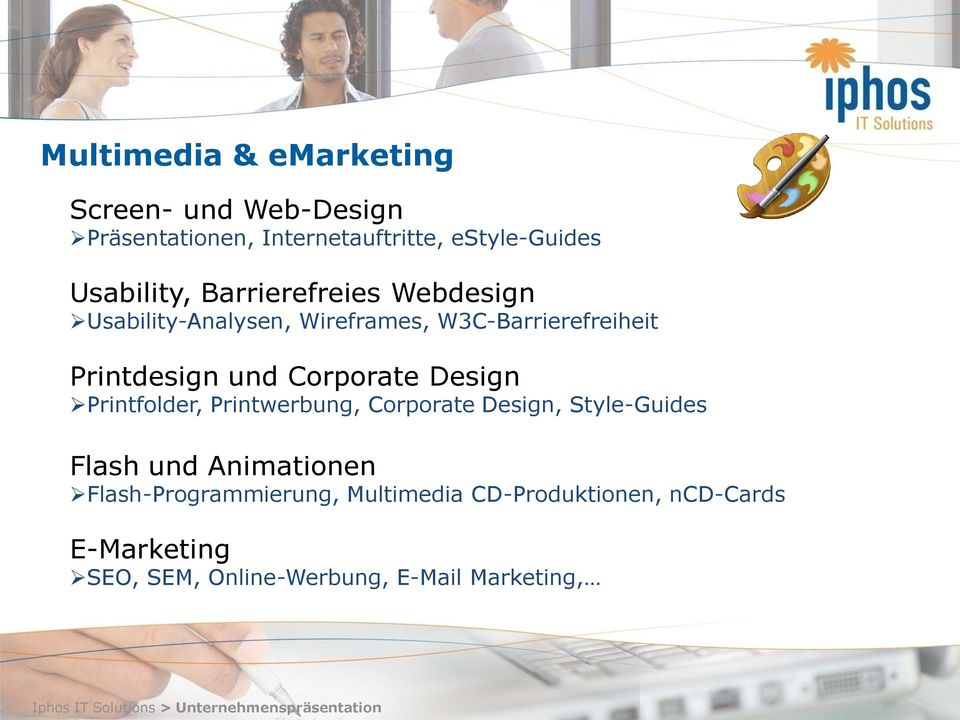 und Corporate Design Printfolder, Printwerbung, Corporate Design, Style-Guides Flash und Animationen