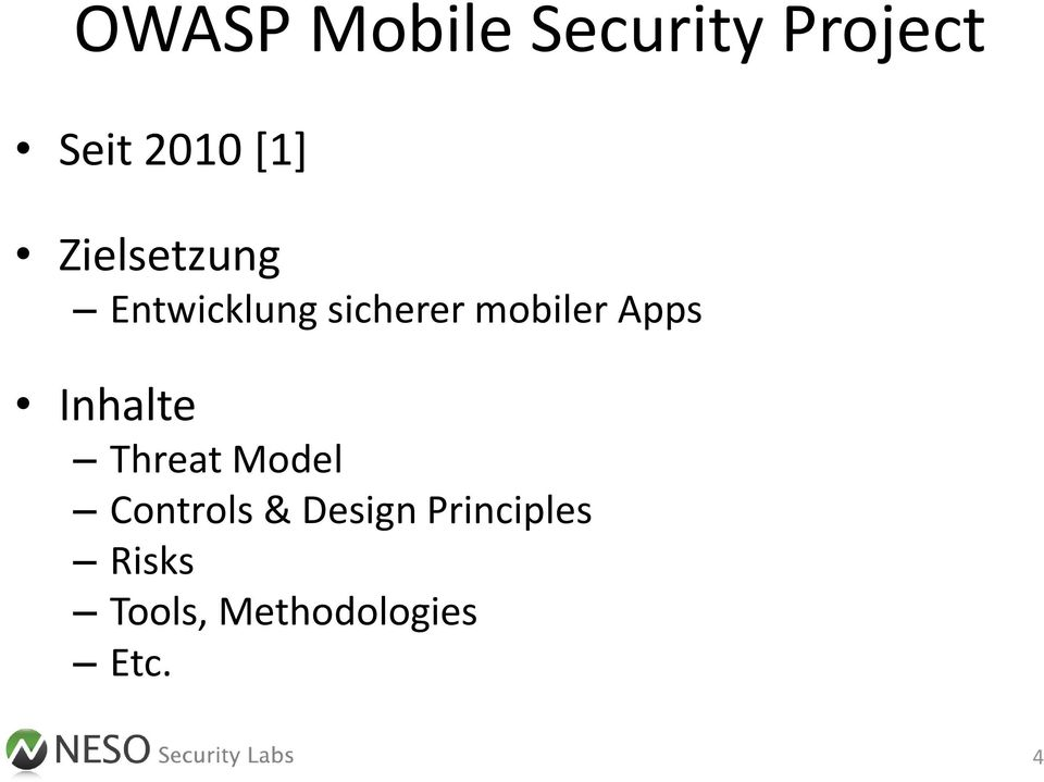 Apps Inhalte Threat Model Controls & Design
