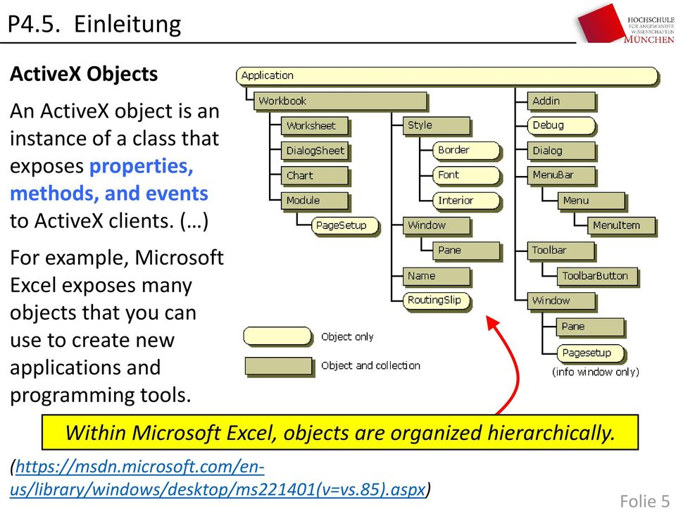 ( ) For example, Microsoft Excel exposes many objects that you can use to create new applications and