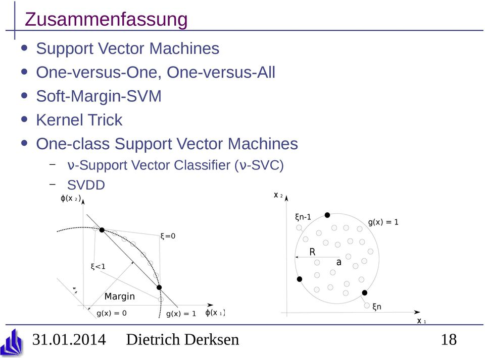 Vector Machines ν-support Vector Classifier (ν-svc) SVDD ϕ(x 2 ) x
