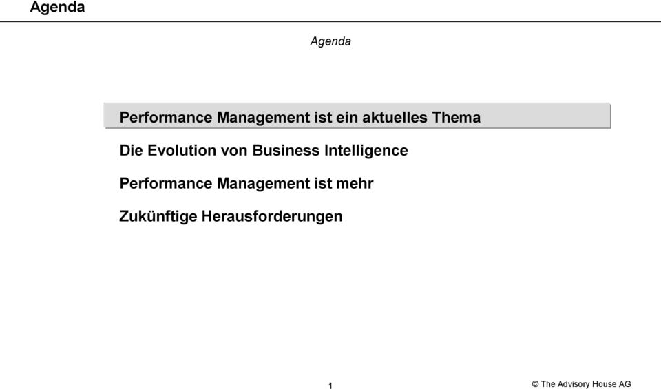 Business Intelligence Performance