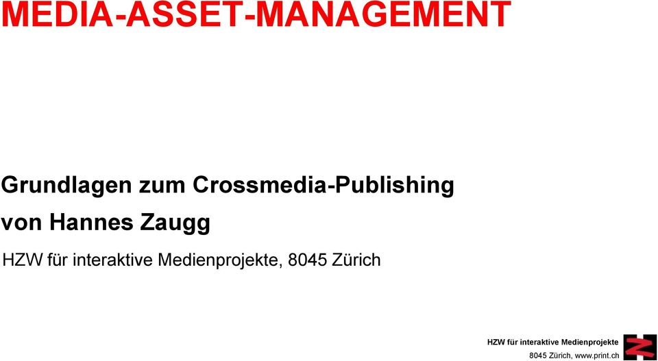 Crossmedia-Publishing