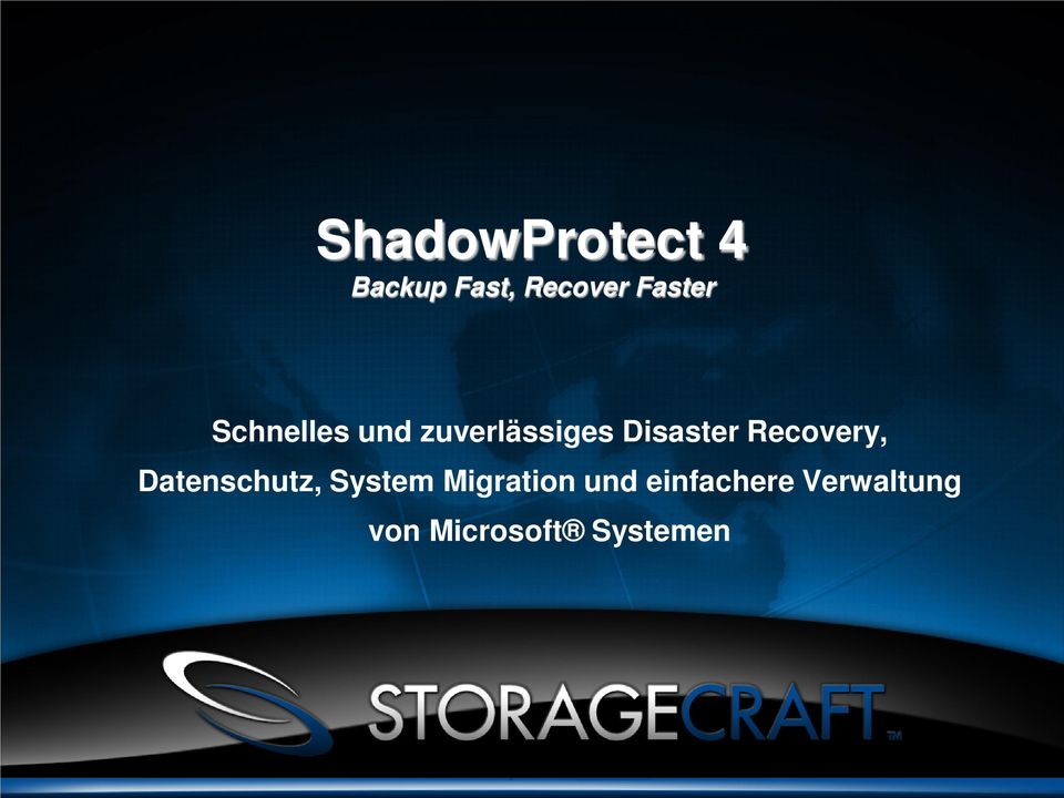 Disaster Recovery, Datenschutz, System