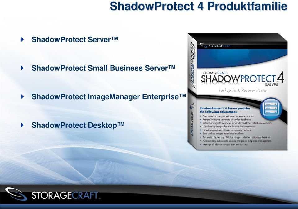 Small Business Server ShadowProtect