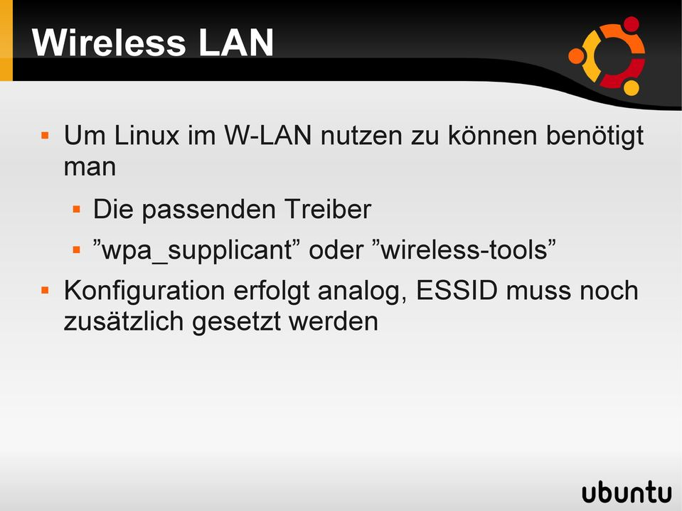 wpa_supplicant oder wireless-tools