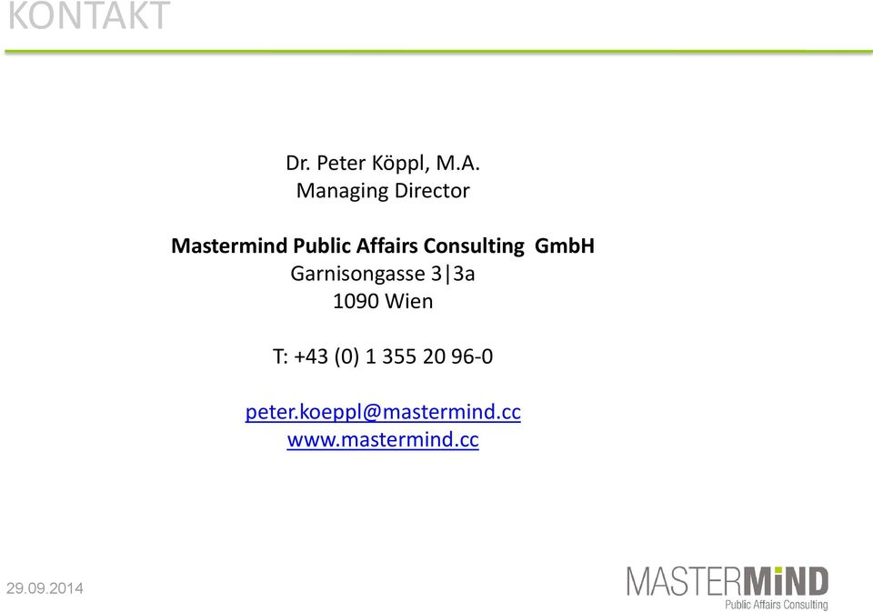 Managing Director Mastermind Public Affairs