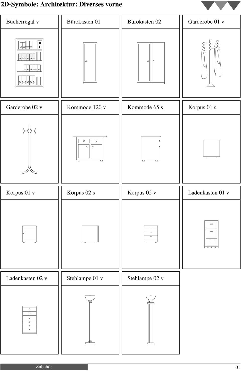 2d symbole architektur betten oben pdf. Black Bedroom Furniture Sets. Home Design Ideas