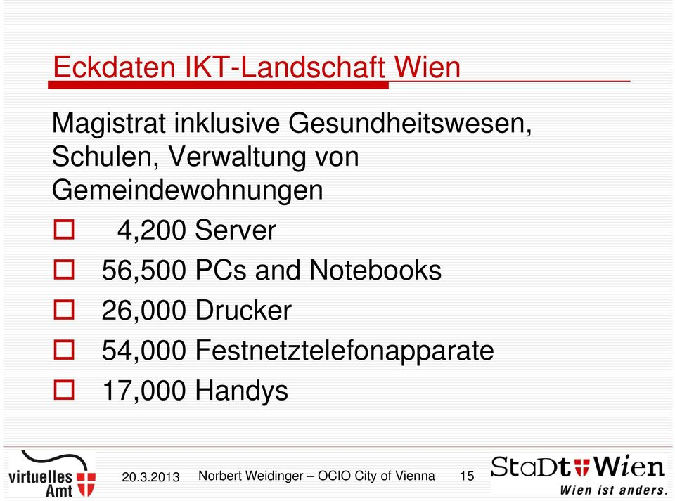 4,200 Server 56,500 PCs and Notebooks 26,000 Drucker 54,000