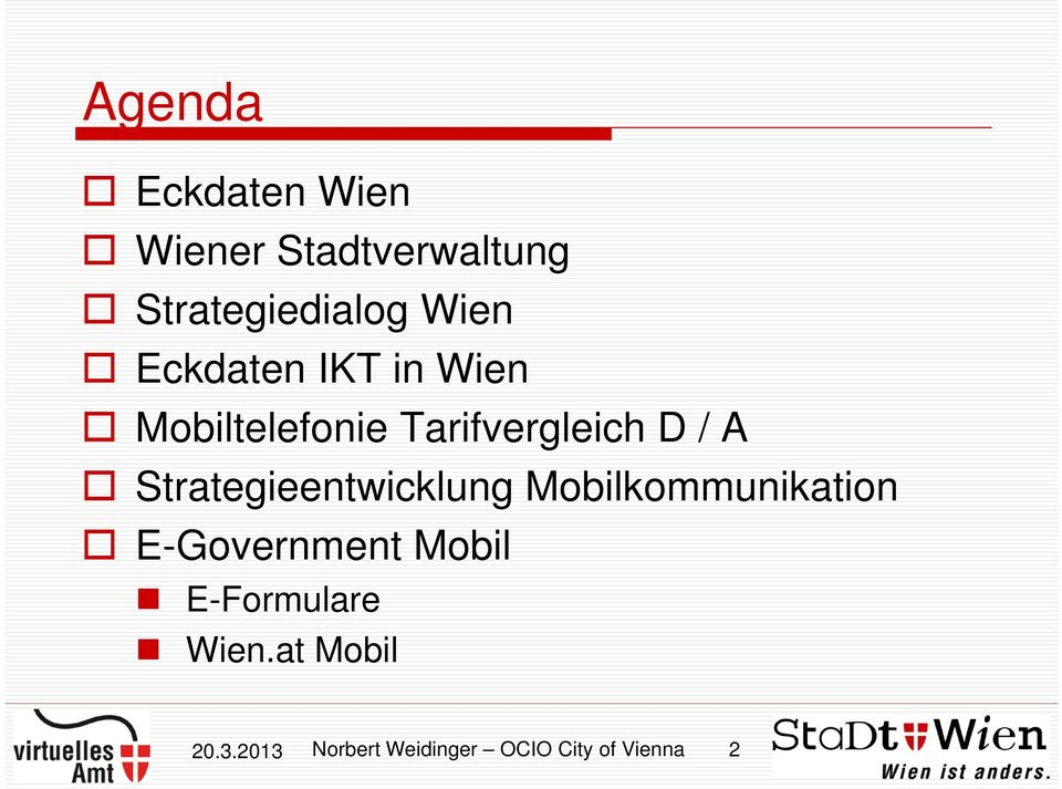 Strategieentwicklung Mobilkommunikation E-Government Mobil