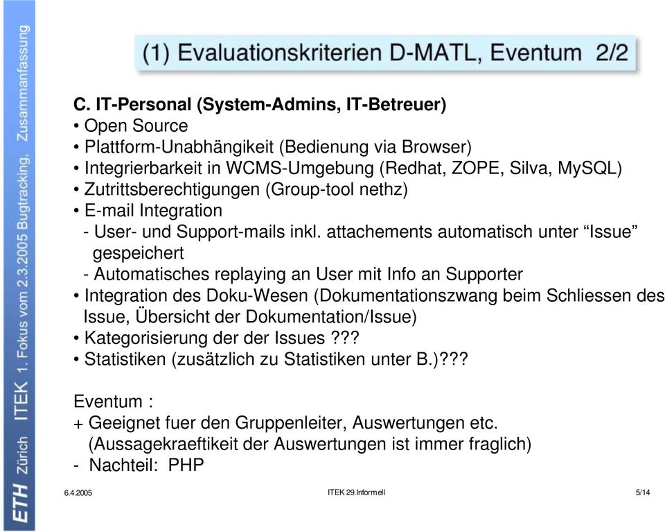 (Group-tool nethz) E-mail Integration - User- und Support-mails inkl.