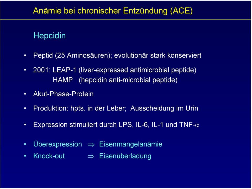 peptide) Akut-Phase-Protein Produktion: hpts.