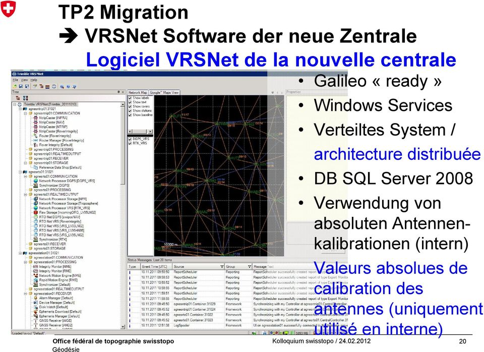 distribuée DB SQL Server 2008 Verwendung von absoluten Antennenkalibrationen