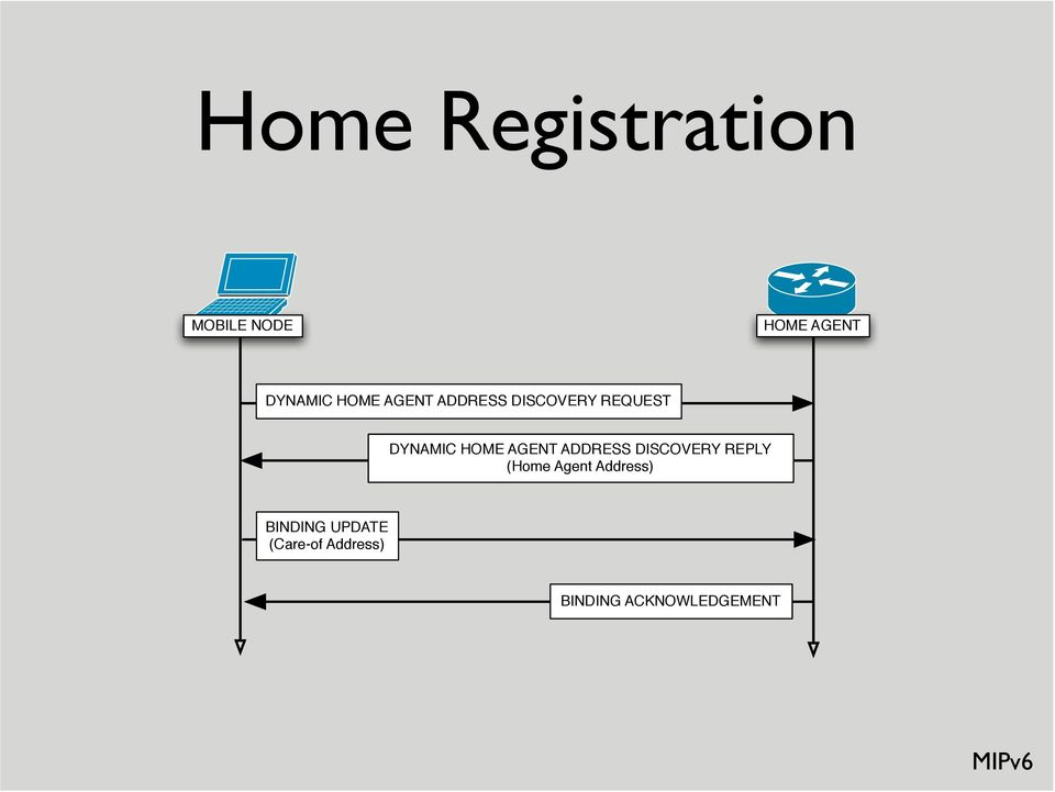 AGENT ADDRESS DISCOVERY REPLY (Home Agent Address)