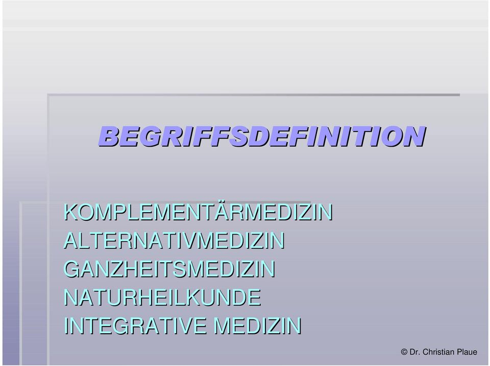 ALTERNATIVMEDIZIN