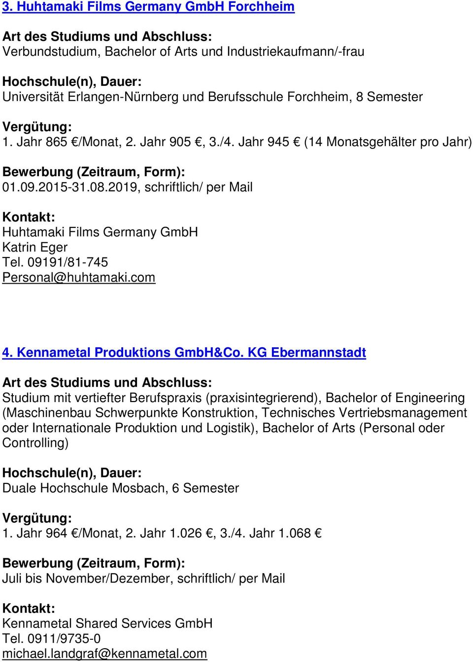 Kennametal Produktions GmbH&Co.