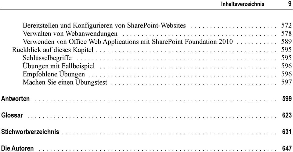 .. 578 Verwenden von Office Web Applications mit SharePoint Foundation 2010.