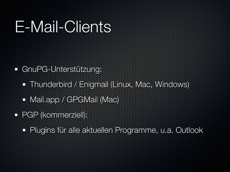 Windows) Mail.