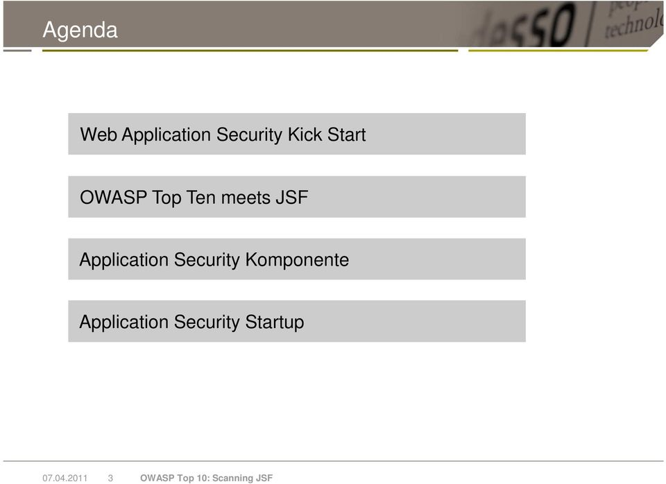 Security Komponente Application Security