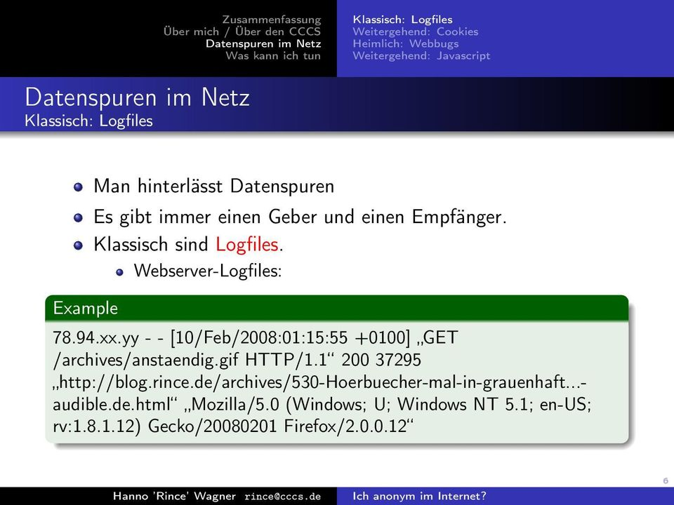 yy - - [10/Feb/2008:01:15:55 +0100] GET /archives/anstaendig.gif HTTP/1.1 200 37295 http://blog.rince.