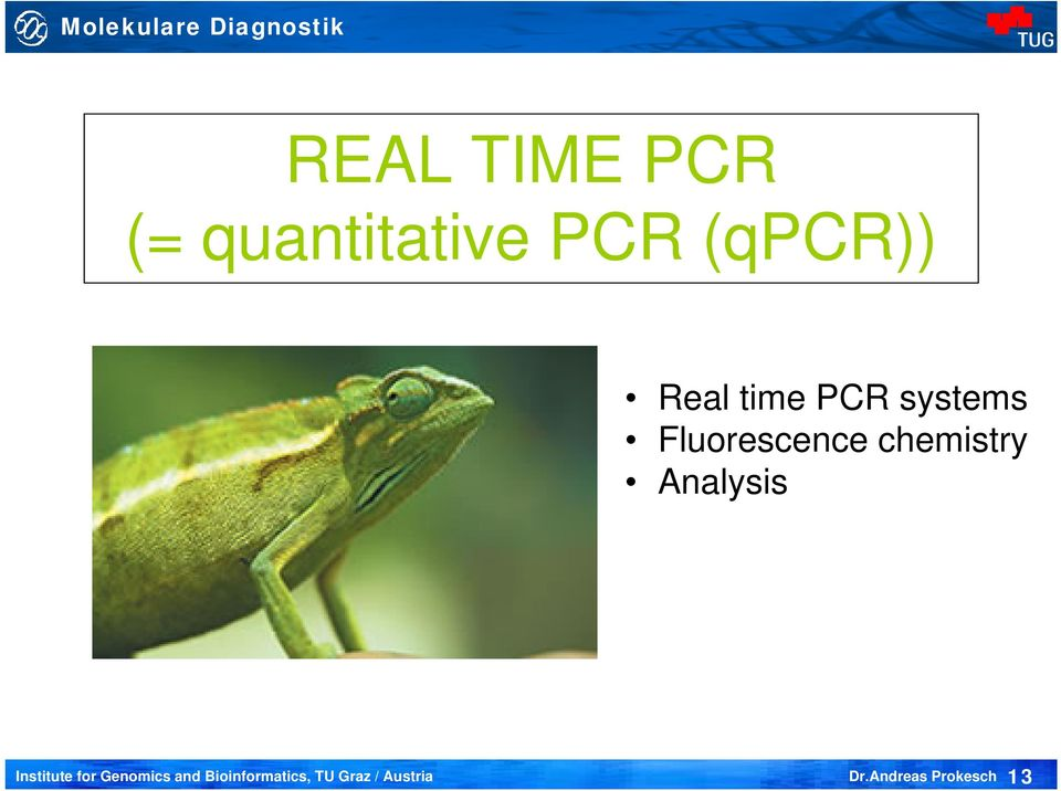 Real time PCR systems