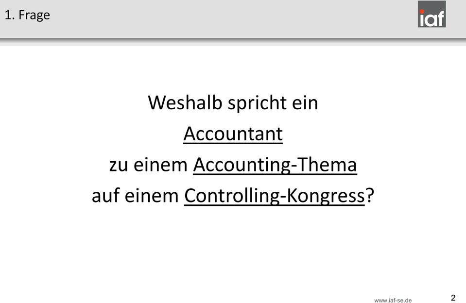 Accounting-Thema auf