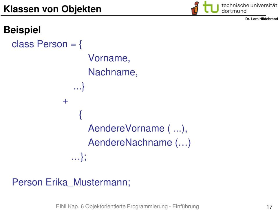 ..), AendereNachname ( ) ; Person