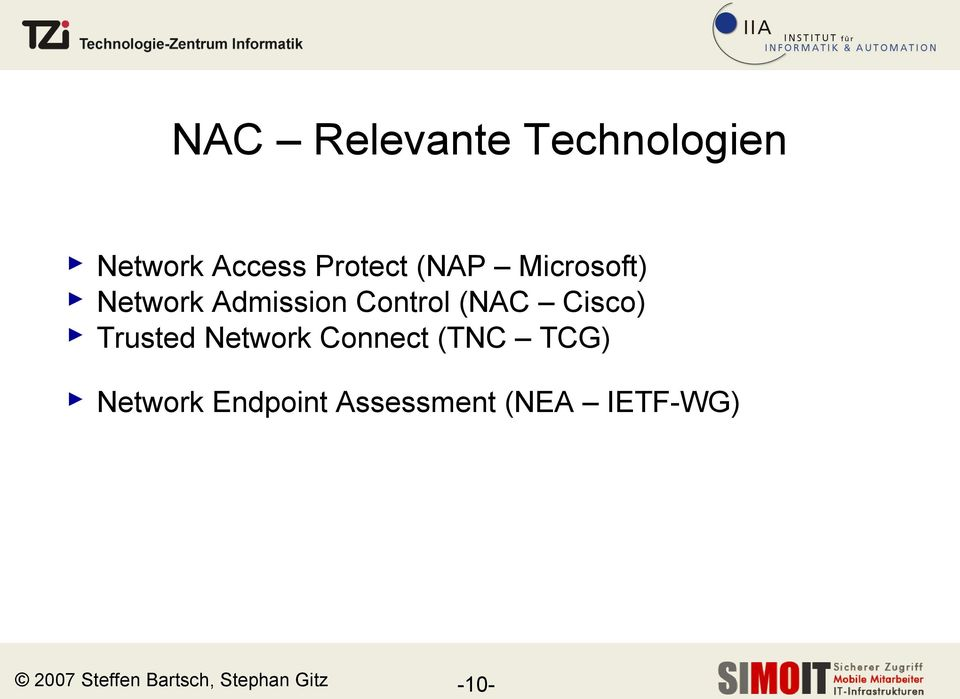 Trusted Network Connect (TNC TCG) Network Endpoint