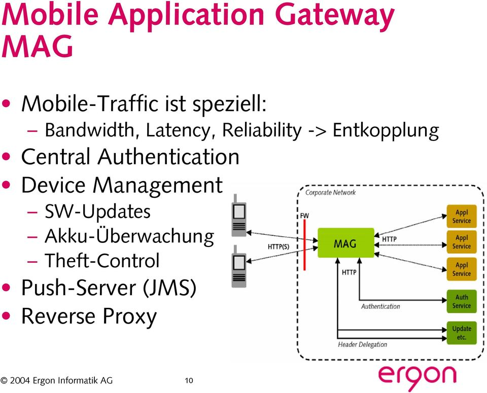 Entkopplung Central Authentication Device Management