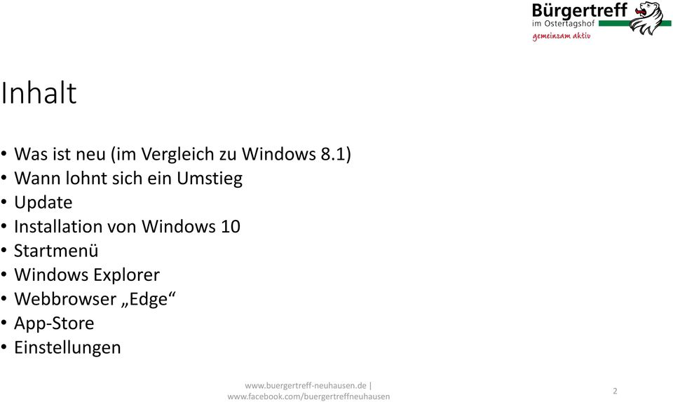 Installation von Windows 10 Startmenü