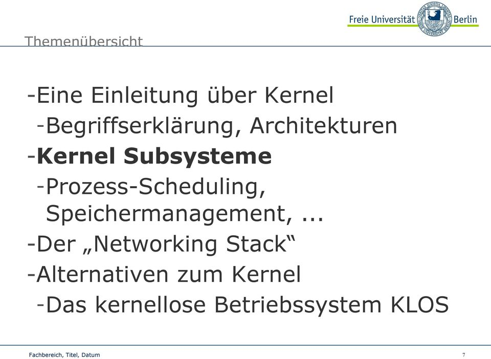 -Prozess-Scheduling, Speichermanagement,.