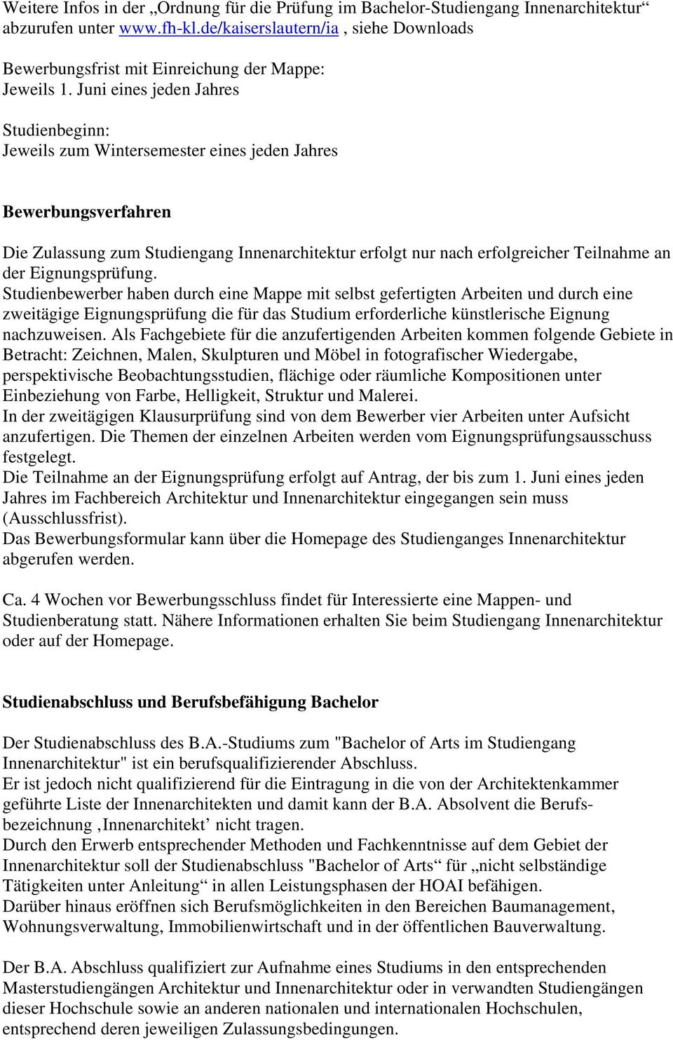 Innenarchitektur oldenburg studium for Innenarchitektur studium