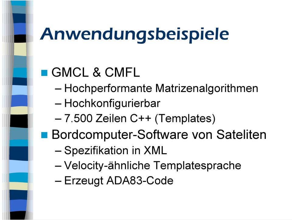 500 Zeilen C++ (Templates) Bordcomputer-Software von