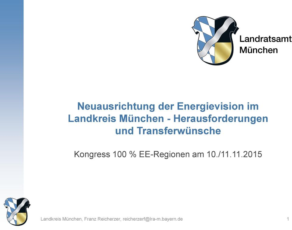 Kongress 100 % EE-Regionen am 10./11.