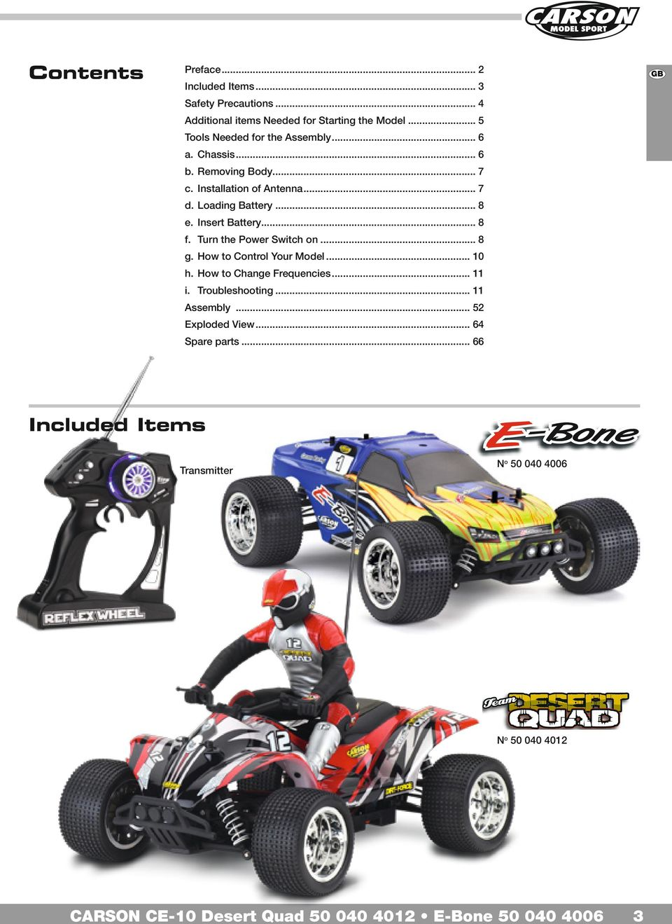 G Instruction Manual Page D Betriebsanleitung Seite F Mode Emploie Rc Cars Remote Control And Radio Controlled From Modelsport Loading Battery 8 E Insert 4 Gb Safety Precautions