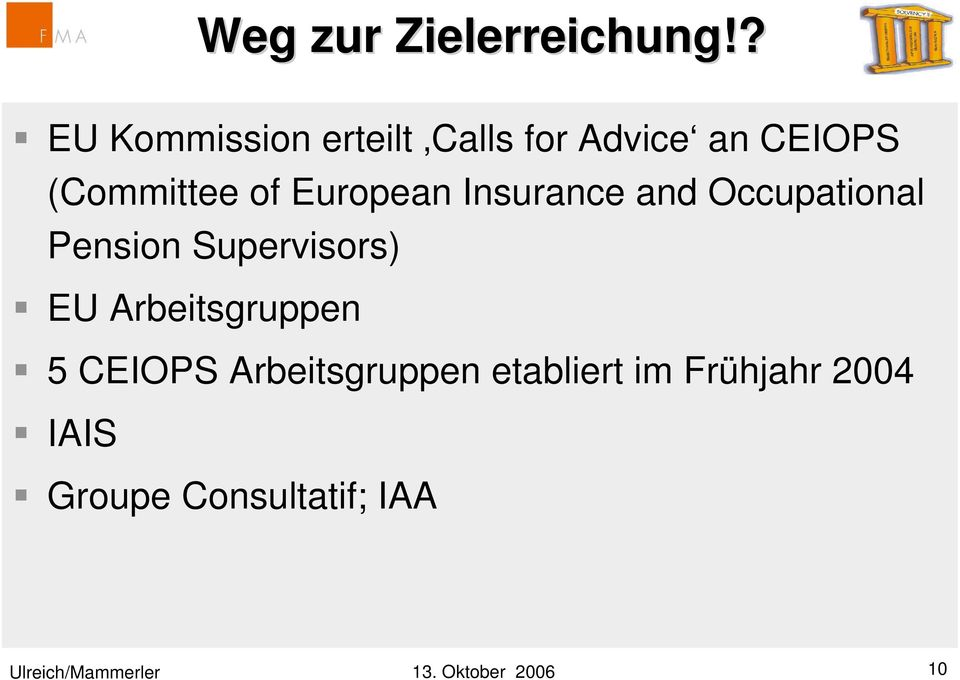 European Insurance and Occupational Pension Supervisors) EU