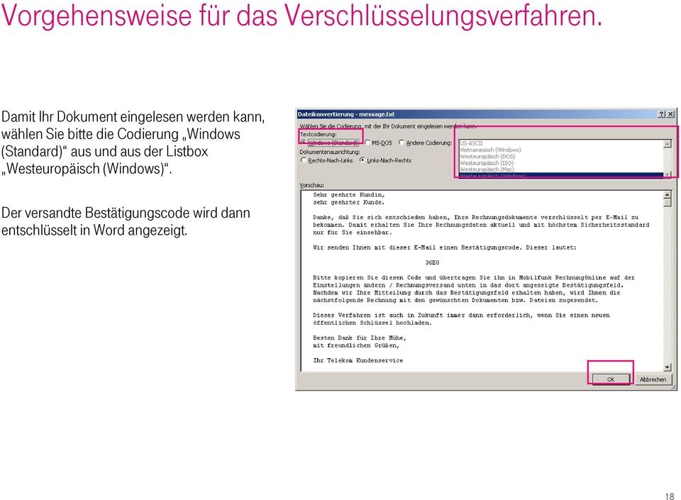 Listbox Westeuropäisch (Windows).