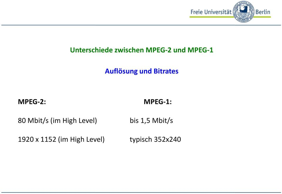 80 Mbit/s (im High Level) bis 1,5 Mbit/s