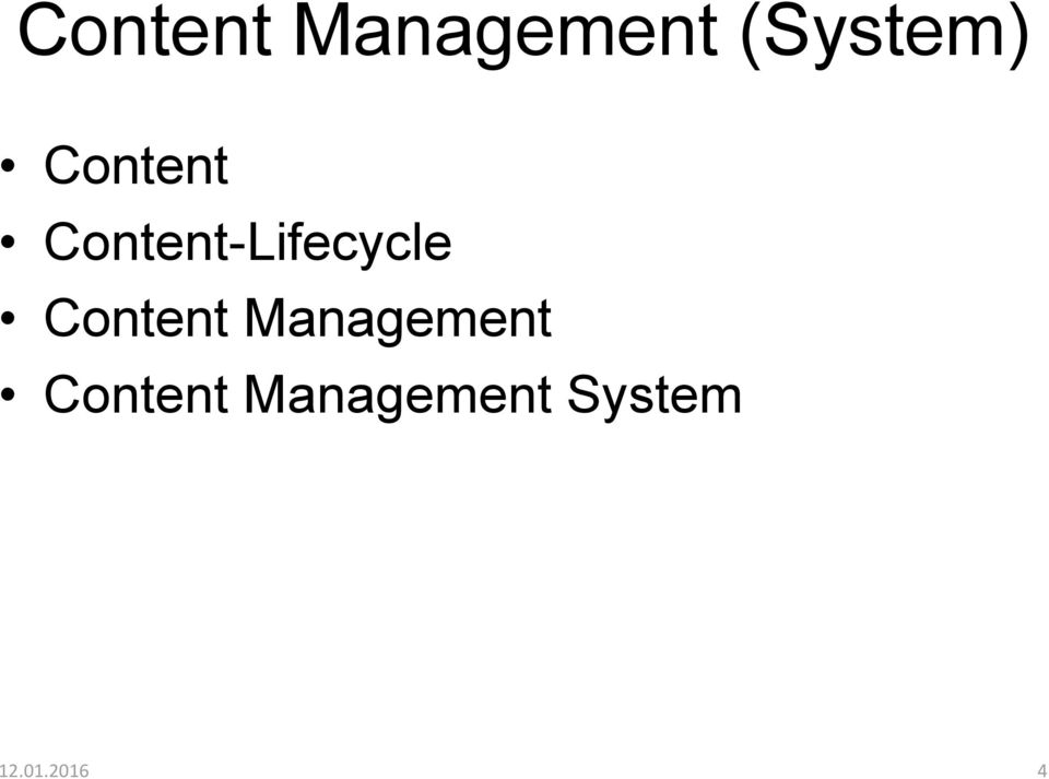 Content-Lifecycle