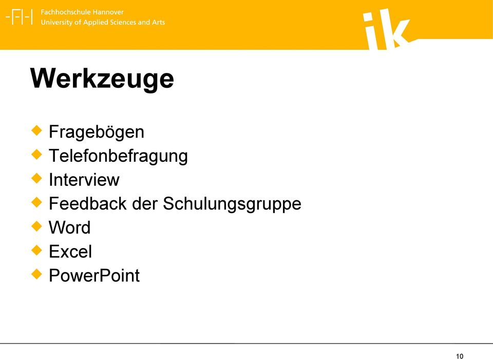 Interview Feedback der