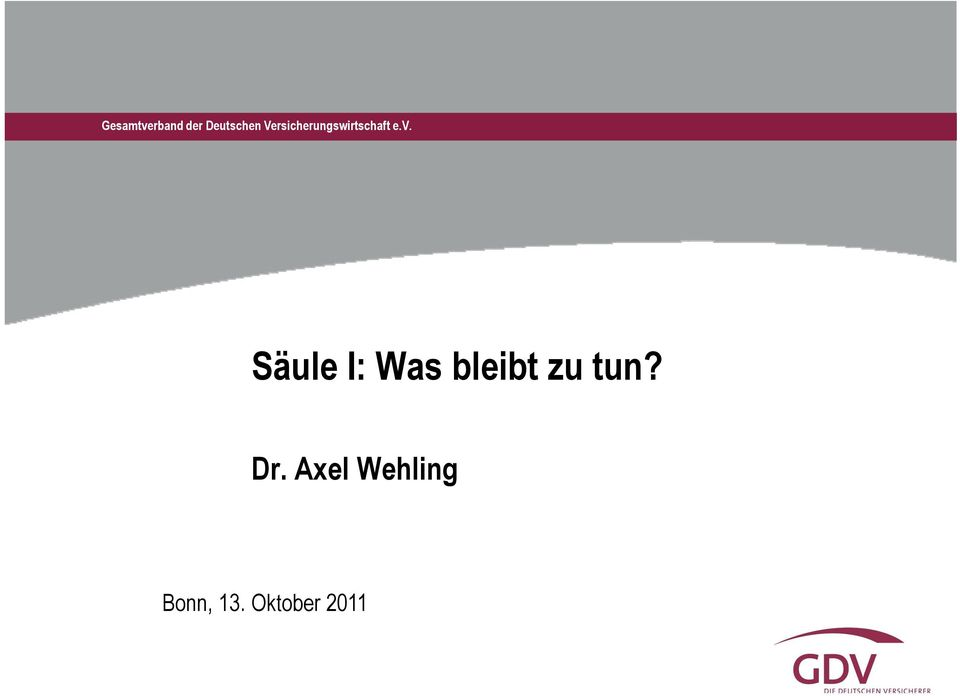 Dr. Axel Wehling